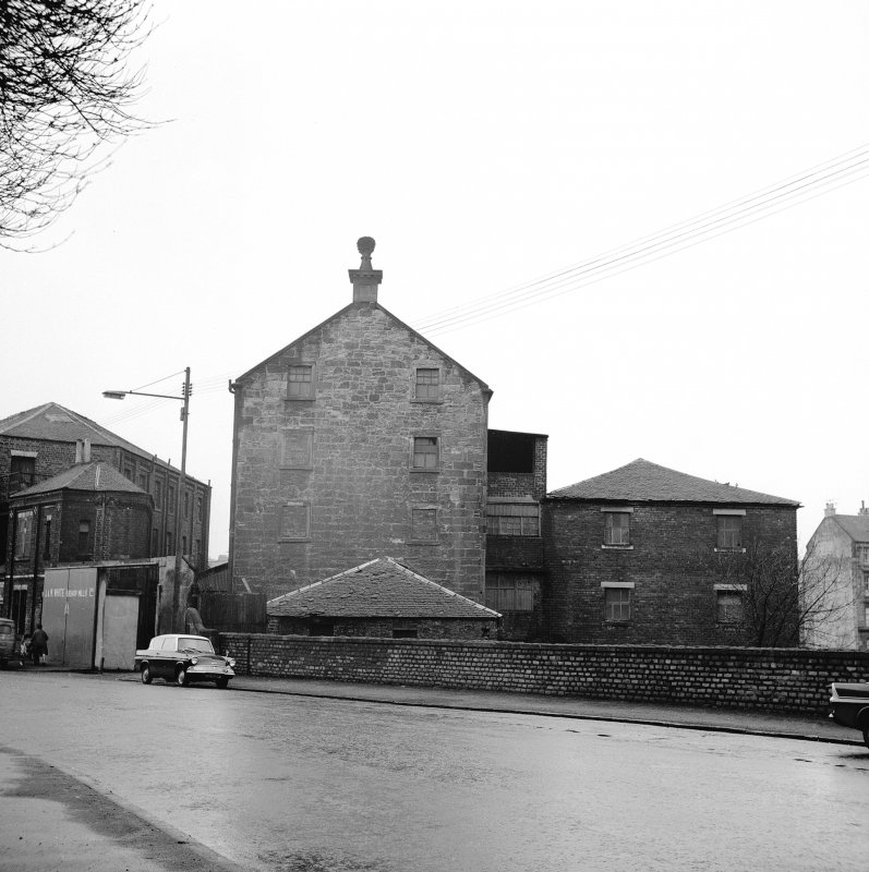 Glasgow, 206 Old Dumbarton Road, Bishop Mill View of Bishop Mill from SE, Artizan Tool Works on left