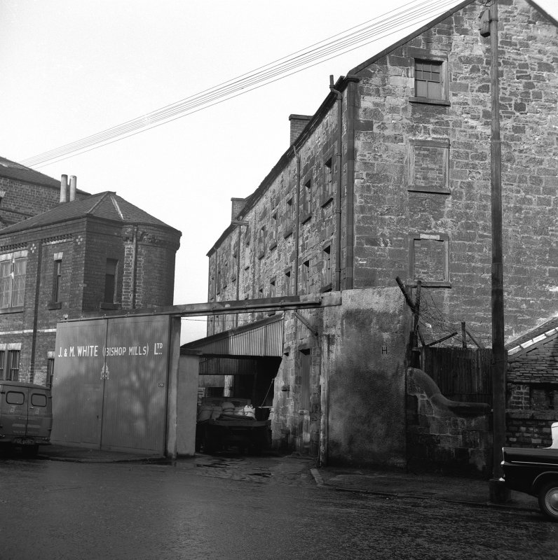 Glasgow, 206 Old Dumbarton Road, Bishop Mill View from S, Artizan Tool Workson left