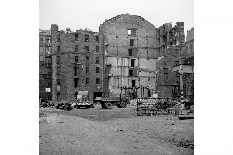 Glasgow, Queen Street Station, Grain Store View from SW showing grain store being demolished