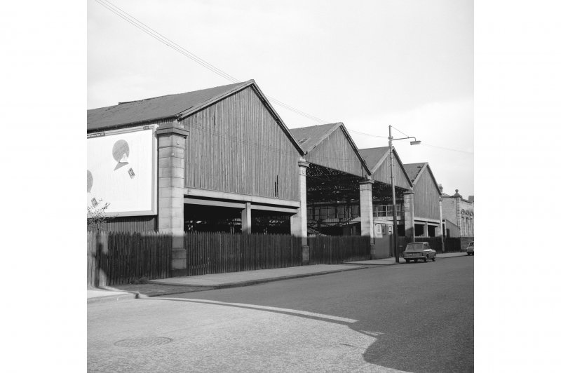 Coplaw Tram Depot View from W showing SSW front of number 28 Albert Drive (timber yard)