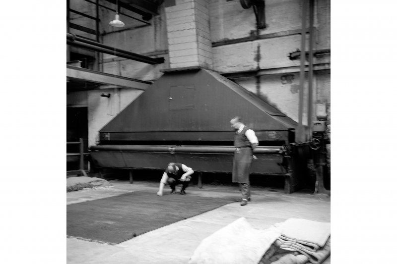 Perth, 1 Mill Street, Pullar's Dyeworks, Interior View showing carpet-beating