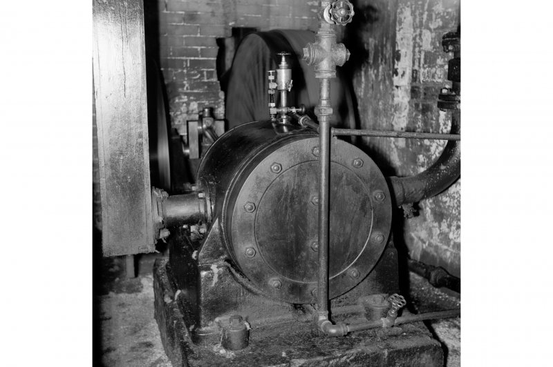 Perth, 1 Mill Street, Pullar's Dyeworks, Interior View showing air-compressor