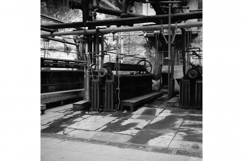 Perth, 1 Mill Street, Pullar's Dyeworks, Interior View showing carpet dyeing machine