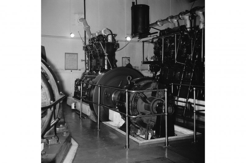 Perth, 1 Mill Street, Pullar's Dyeworks, Interior View showing Ruston and Hornsby 3 cylinder generator engine