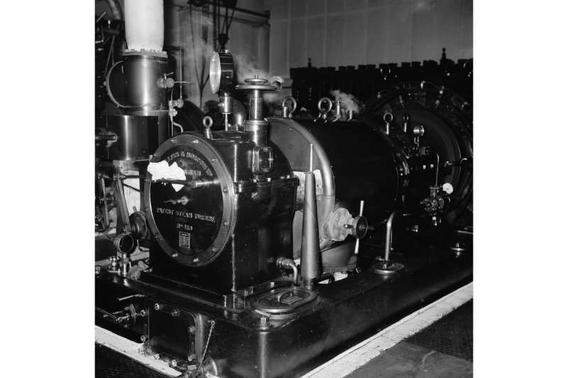 Perth, 1 Mill Street, Pullar's Dyeworks, Interior View showing Belliss and Morcom turbine