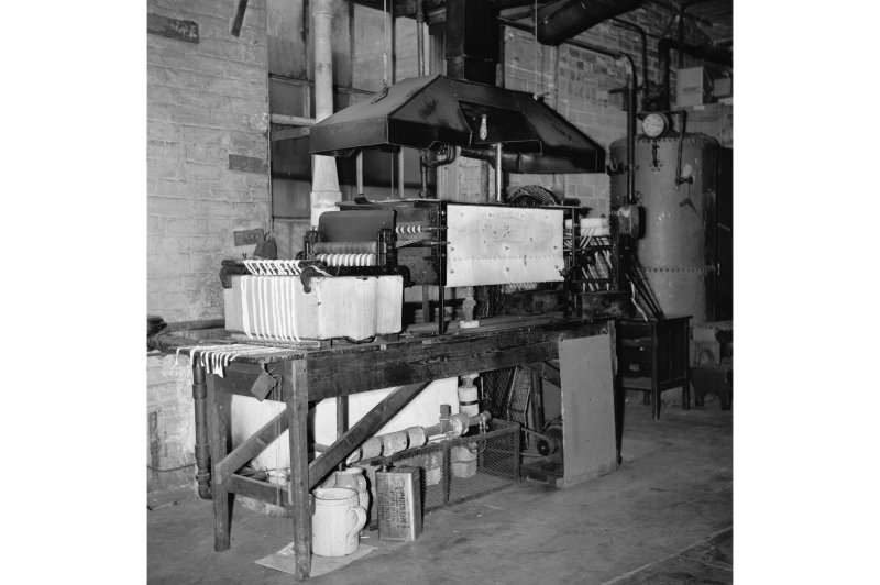 Perth, 1 Mill Street, Pullar's Dyeworks, Interior View showing tape dyeing machine