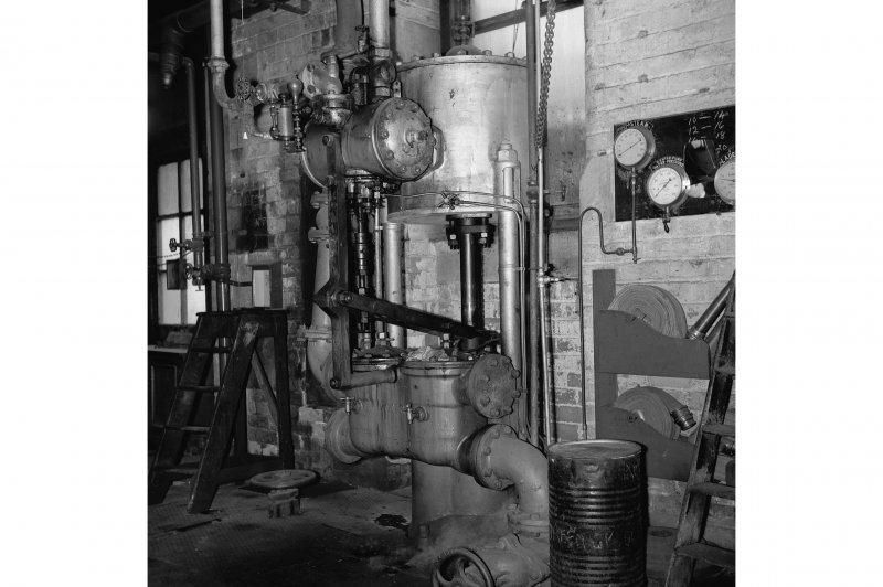 Perth, 1 Mill Street, Pullar's Dyeworks, Interior View showing large weir feed-pump