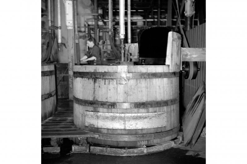 Perth, 1 Mill Street, Pullar's Dyeworks, Interior View showing dyeing machine