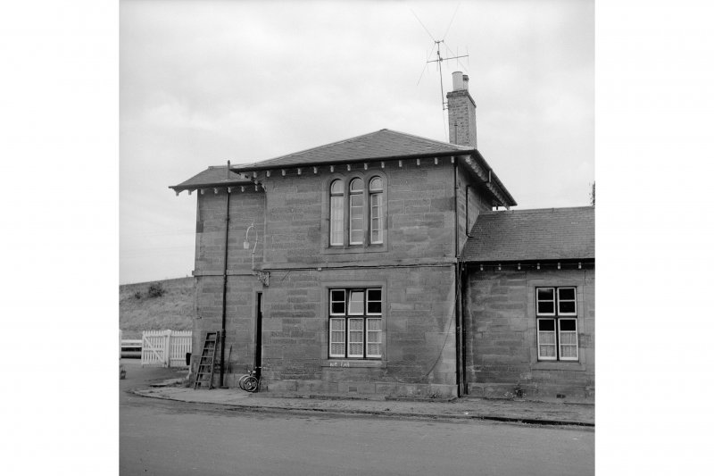 Cupar, Station Road, Station and Associated Buildings View from WNW showing NW front of N end pavilion of main station building