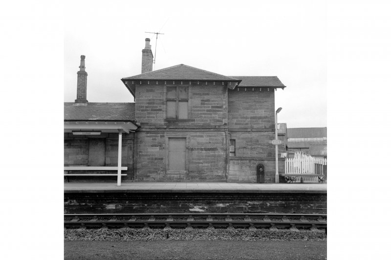 Cupar, Station Road, Station and Associated Buildings View from SE showing SE front of N end pavilion of main station building