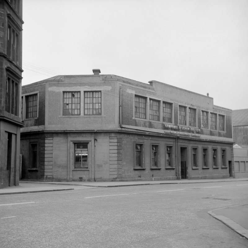 Glasgow, 1039 Argyle Street, Finnieston Station View from ENE showing ENE and NE fronts of offices