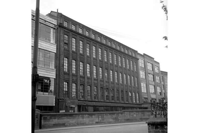 Glasgow, 62 Templeton Street, Templeton's Carpet Factory View of London Road frontage, from NE