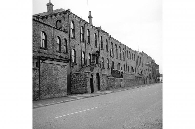 Paisley, Renfrew Road, Vulcan Works View of offcie block, from NW, bellcote in left foreground