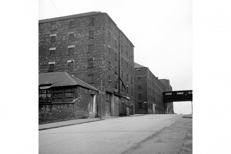 Glasgow, 76-80 North Canal Bank Street, Port Dundas Distillery View of W side of Borron Street, from SE
