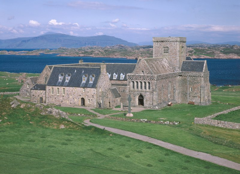 Iona, Iona Abbey. View from South-West.