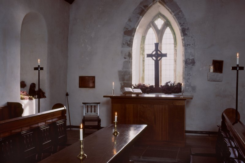 Iona Abbey, 'Michael Chapel'. Interior from W.