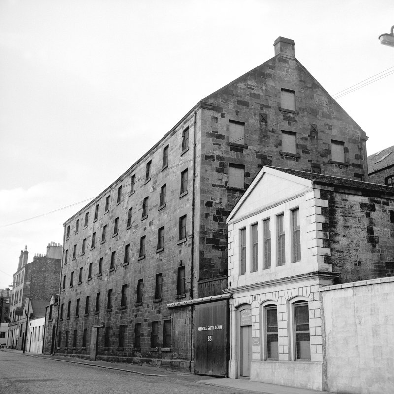 Glasgow, 79-81 Cheapside Street, Grain Mill View from SW