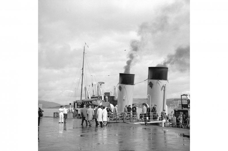 Gourock, Kempock Point, Gourock Pier View of PS Waverley embarking passengers at Gourock Pier