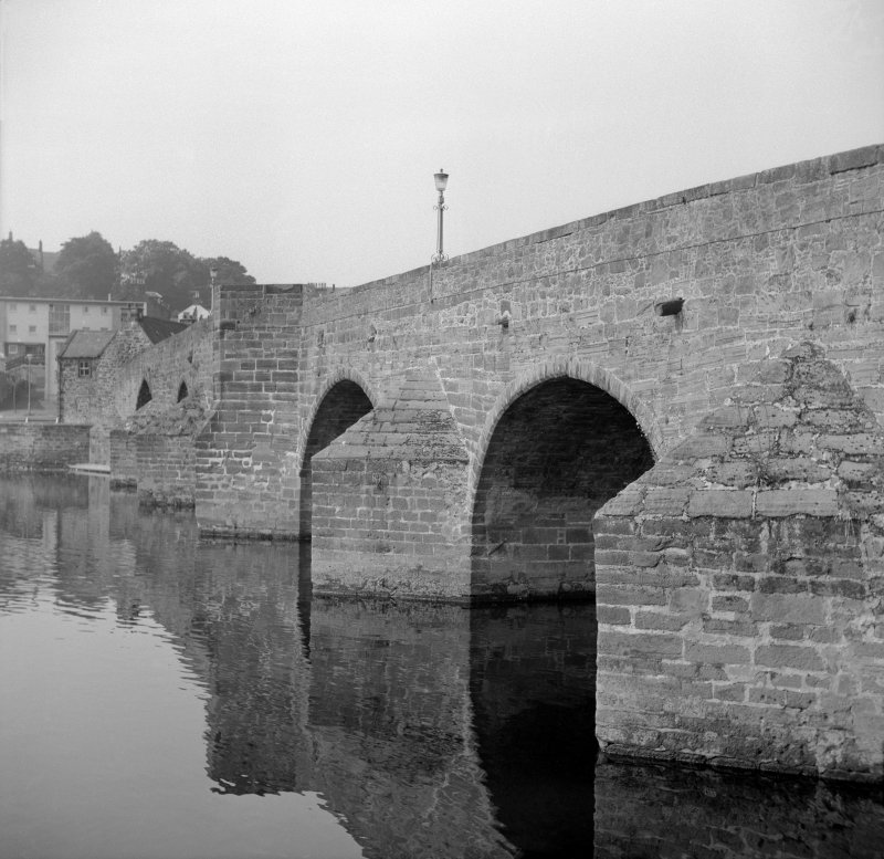 Dumfries, Old Bridge View from ENE showing part of SE front