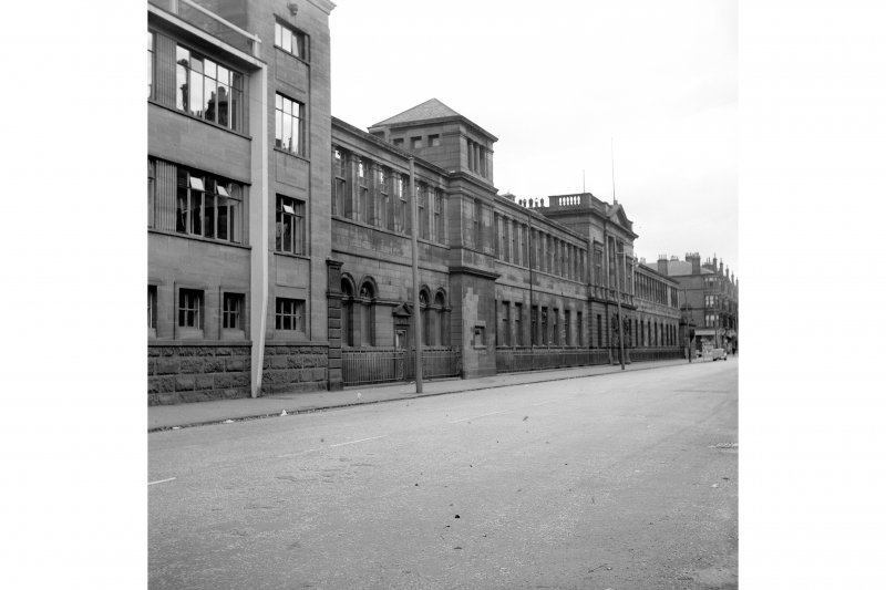 Glasgow, 1048 Govan Road, Fairfield Shipbuilding Yard and Engine Works View from W showing SSW front of office block