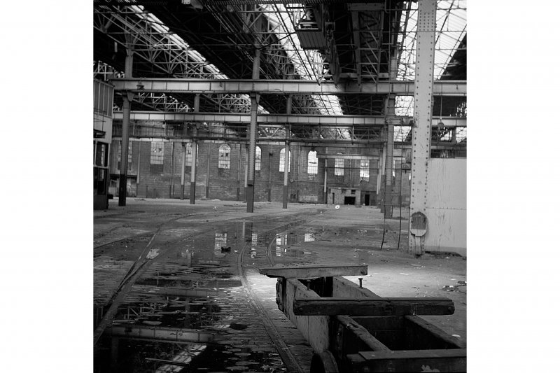 Glasgow, Clydebrae Street, Harland and Wolff Shipbuilding Yard, Interior View of platers shed