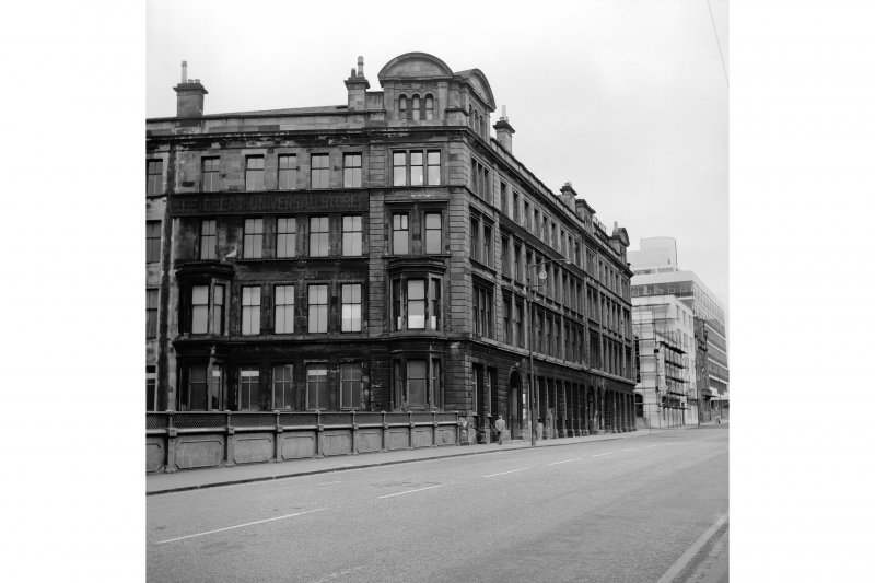 Glasgow, 400 Cathedral Street, Warehouse View looking E from bridge showing SSW front and part of W front of warehouse