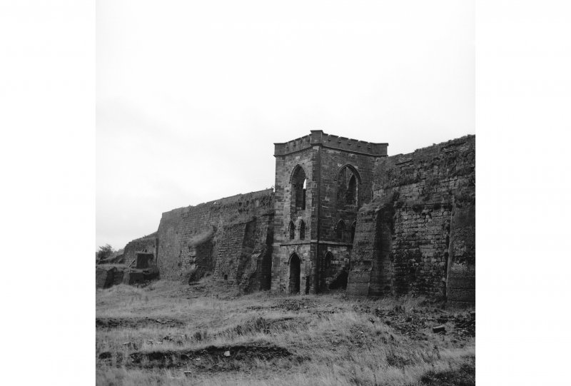 Muirkirk Ironworks View from W showing engine house