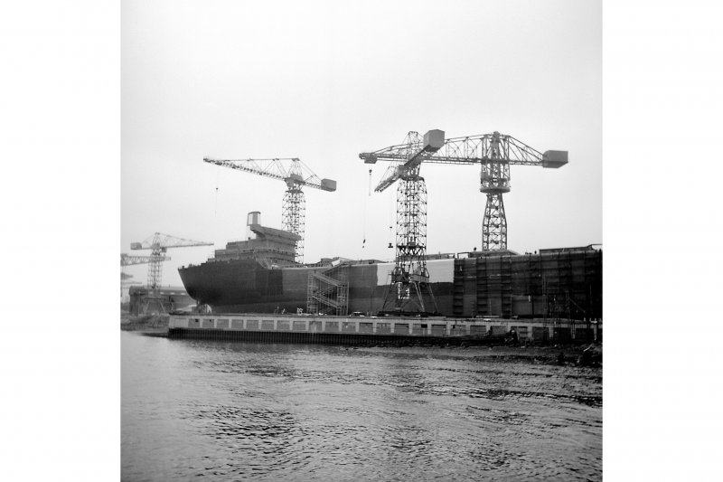Glasgow, Barclay Curle and Co, Scotstoun Shipbuilding Yard View of the 'Hamlet' under construction