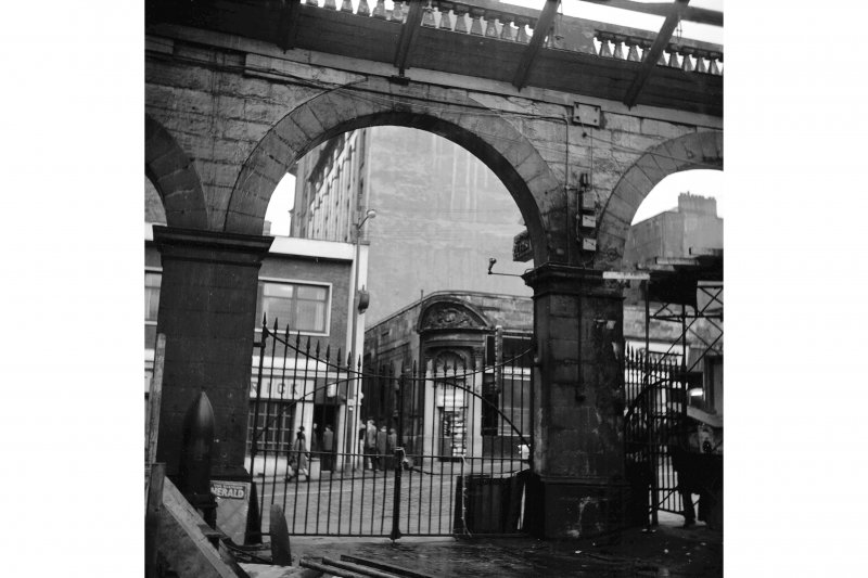 Glasgow, West George Street, Queen Street Station; Interior View of Dundas Street entrance under demolition