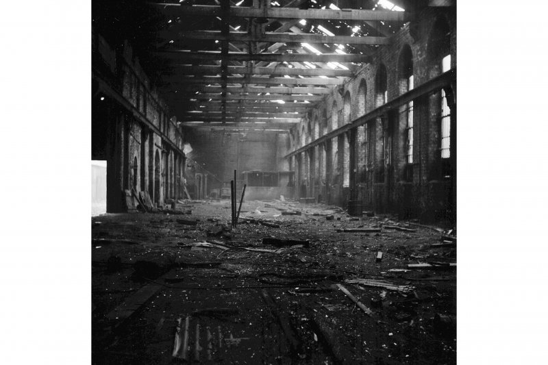 Glasgow, Flemington Street, Hyde Park Locomotive Works; Interior View along length of iron foundry