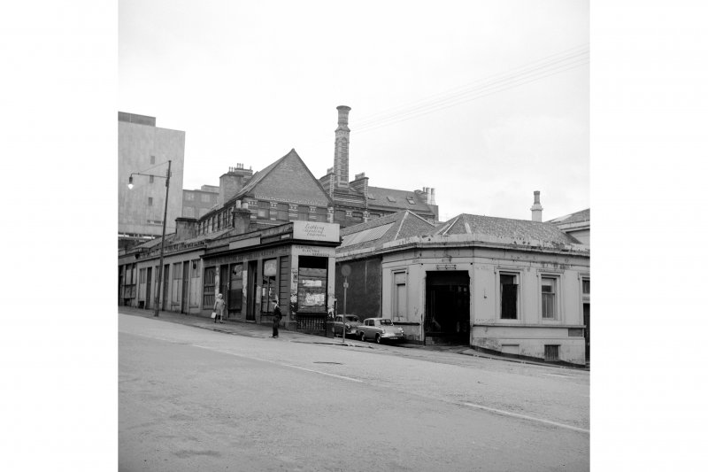 Glasgow, 62 North Frederick Street, Oil Store General view, 105-111 John Street in background