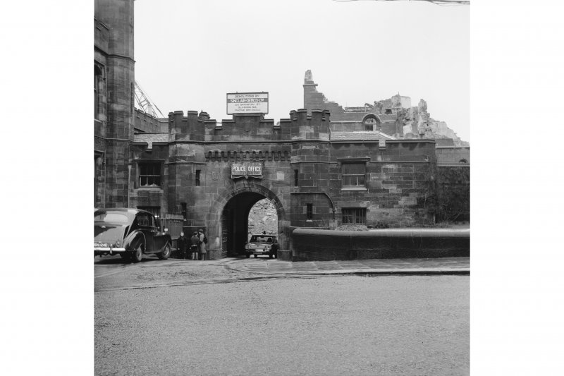 Paisley, County Square, County Buildings and Prison View during demolition