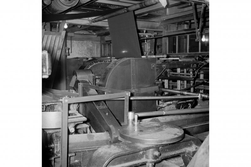 Netherplace Bleachworks, Electricity Generating Station; Interior View of stenting machine made by Duncan Stewart and Co in 1888