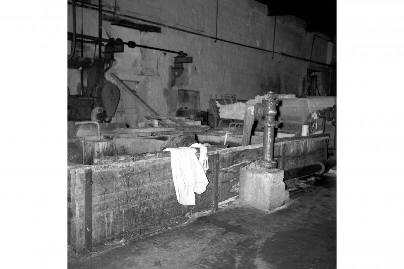 Netherplace Bleachworks, Electricity Generating Station; Interior View of steeping trough