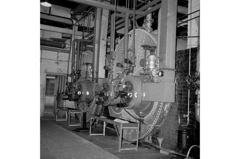 Netherplace Bleachworks, Electricity Generating Station; Interior View of boilers
