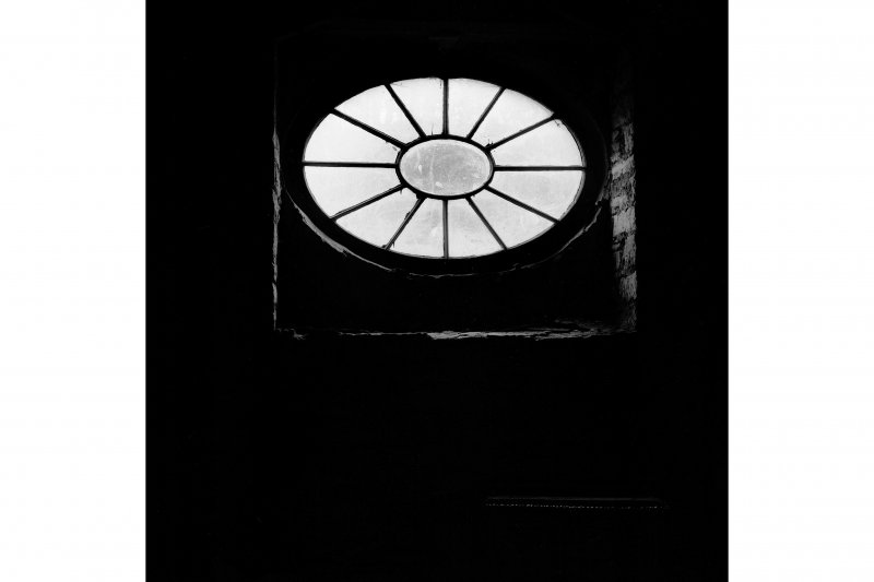 New Lanark, Mill No.3; Interior Detail of oval window in pediment