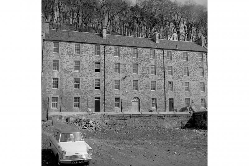 New Lanark, Nursery Buildings View of frontage from SW