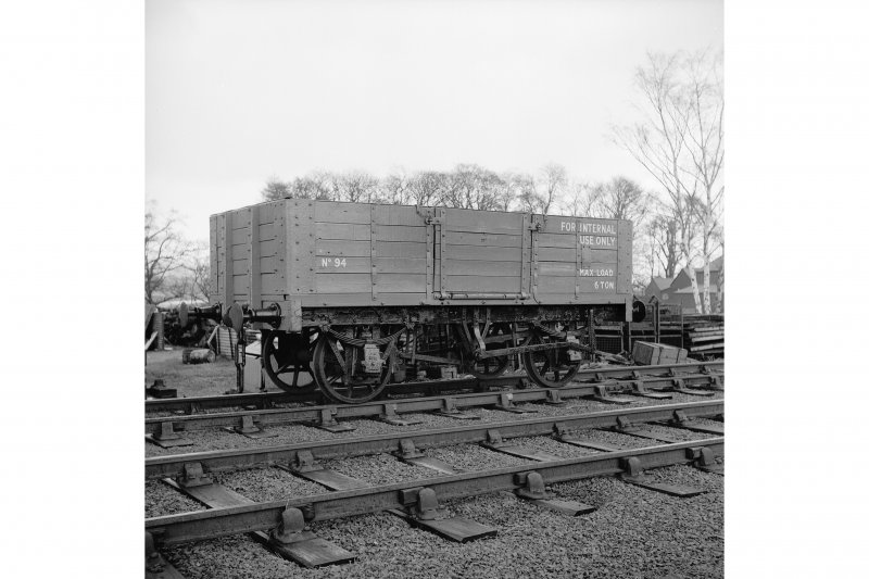Throsk, Royal Naval Armament Depot View of former Midland Railways open wagon