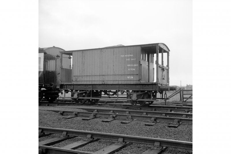 Throsk, Royal Naval Armament Depot View of brake van