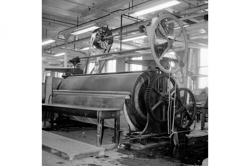 Perth, 1 Mill Street, Pullar's Dyeworks; Interior View of single roll shell machine