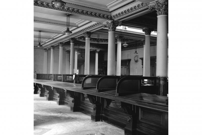 Glasgow, 110-118 (even) Queen Street, British Linen Bank, Interior View showing counter