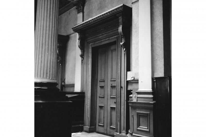 Glasgow, 110-118 (even) Queen Street, British Linen Bank, Interior View showing door