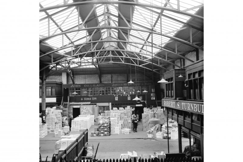 Glasgow, 60-106 Candleriggs, City Hall and Bazaar, Interior View showing new part