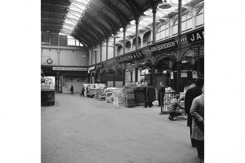 Glasgow, 60-106 Candleriggs, City Hall and Bazaar, Interior View showing bays in old part