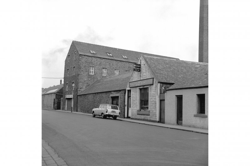 Galashiels, Hudderfield Street, Abbotsford Mill View from S showing part of SW front of mills
