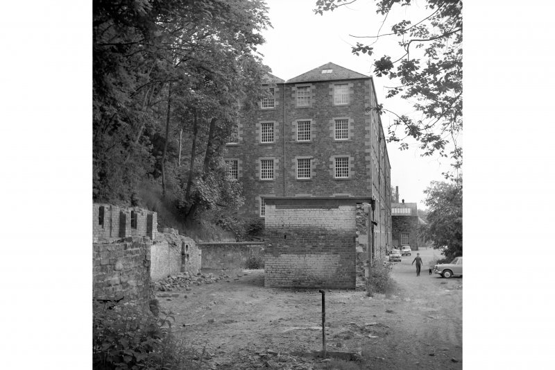 Galashiels, Buckholm Mill View from NW showing part of NW front of main block