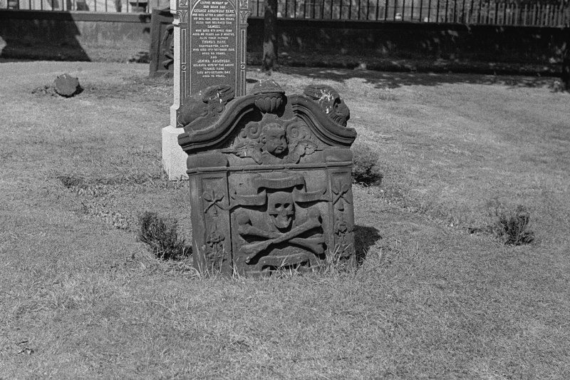 Edinburgh, Kirkgate, St Mary's Church (South Leith Parish CHurch) Detail of tombstone