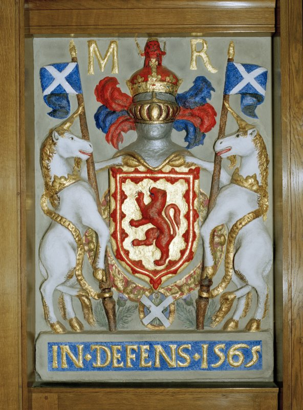 Detail of 1565 heraldic plaque from old tolbooth