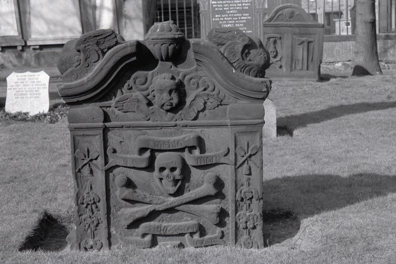 Churchyard: 18th century monument