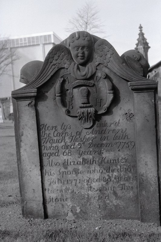 Churchyard: Monument of A Waugh, 1759